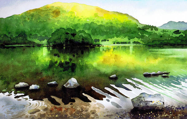 Wall Art - Painting - Ripples On Rydal Water by Paul Dene Marlor