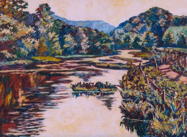 Painting - Ripples On The Little River by Kendall Kessler