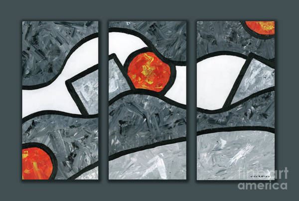 Painting - Rise And Fall Triptych by Diane Thornton