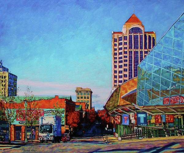 Oil Well Painting - Rise And Shine - Roanoke Virginia Morning by Bonnie Mason