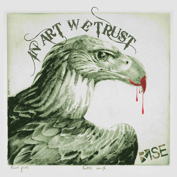 Mixed Media - Rise In Art We Trust                                   by Tony Rubino