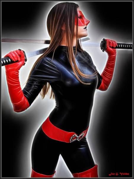 Painting - Rise Of The Crimson Avenger by Jon Volden