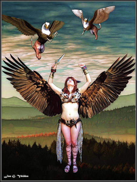 Photograph - Rise Of The Griffin Queen by Jon Volden