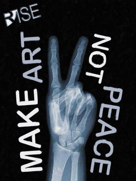 Mixed Media - Rise Peace by Tony Rubino
