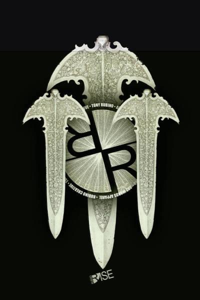 Mixed Media - Rise Rubino Blades by Tony Rubino