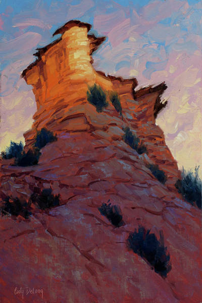 Zion Painting - Rise Up 16x12 by Cody DeLong