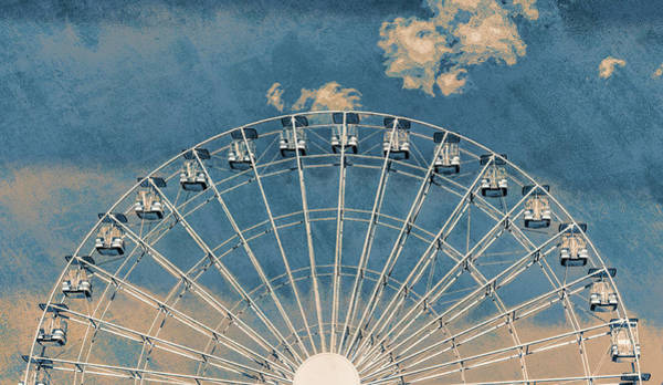 Photograph - Rise Up Ferris Wheel In The Clouds by Terry DeLuco