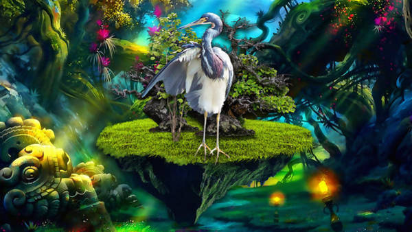 Heron Mixed Media - Rise Up by Marvin Blaine