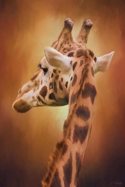 Rising Above - Giraffe Art Art Print