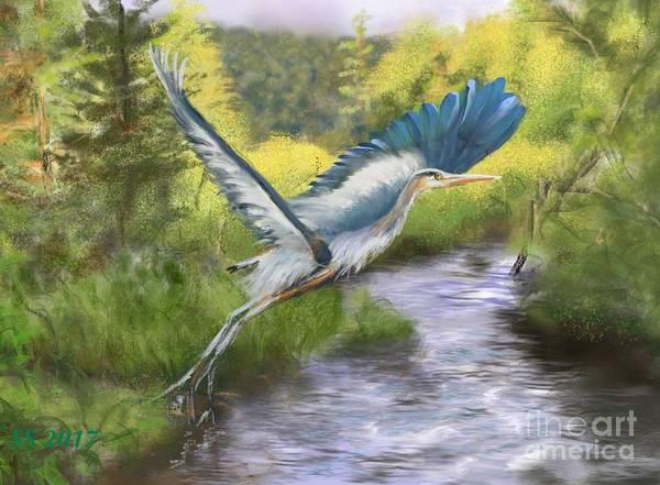 Adirondack Mountains Painting - Rising Free by Susan Sarabasha