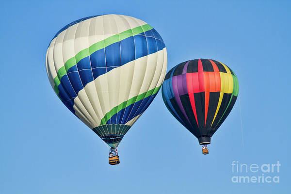 Air Balloon Wall Art - Photograph - Rising High by Arthur Bohlmann