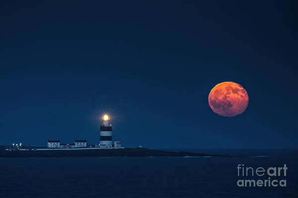 Dunmore East Photograph - Rising Moon by Leah Burgess