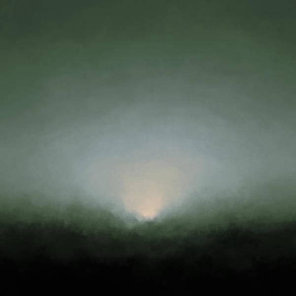 Bailey Digital Art - Rising Moon by Lonnie Christopher