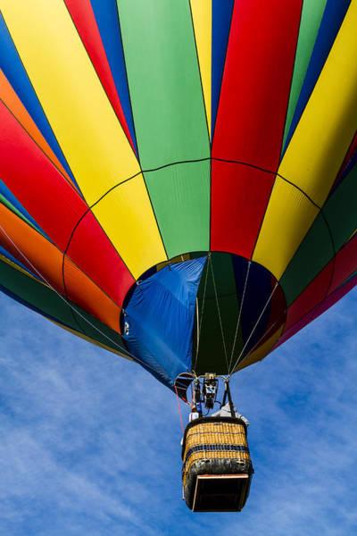 Photograph - Rising Rainbow Balloon by Teri Virbickis