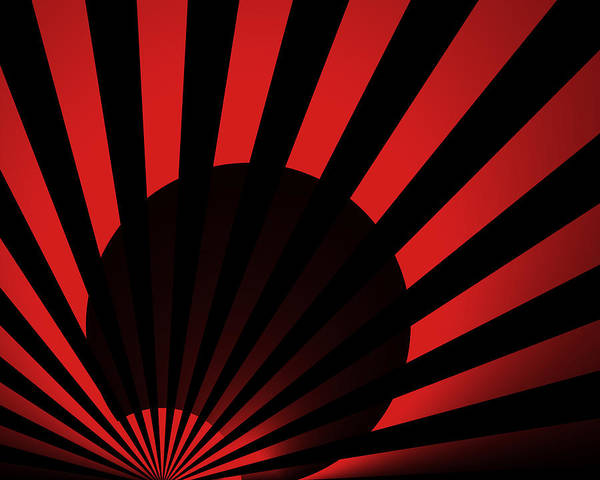 Negative Space Digital Art - Rising Sun 1 by Vic Eberly