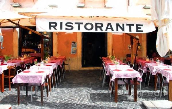 Photograph - Ristorante In Rome by Mel Steinhauer