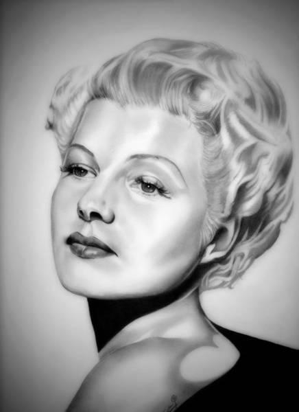 Trinidad Drawing - Rita Hayworth by Fred Larucci