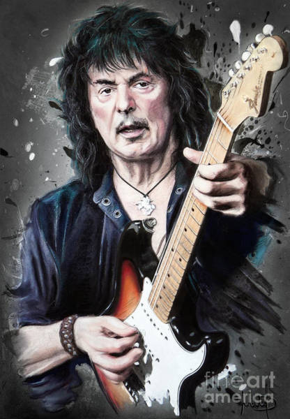 Hard Rock Mixed Media - Ritchie Blackmore by Melanie D