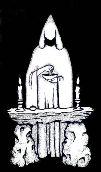 Sorcery Drawing - Ritual by Diana Blackwell