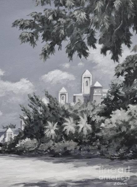 Wall Art - Painting - Ritz Carlton Monochrome by John Clark