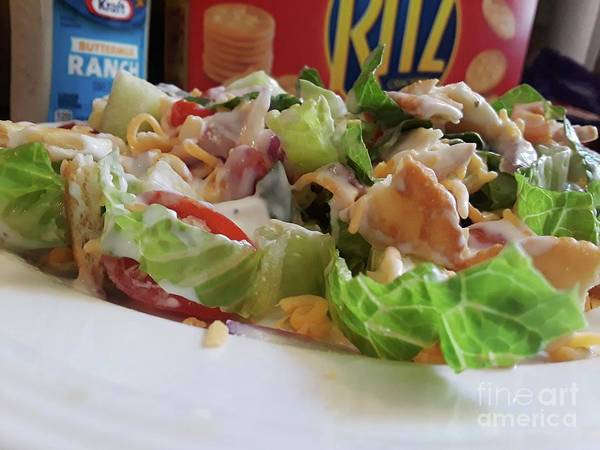 Salad Dressing Photograph - Ritzy Salad by Maxine Billings