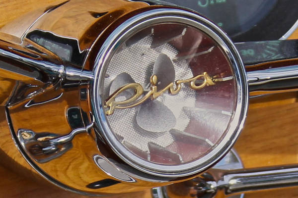 Photograph - Riva Steering Hub by Steven Lapkin