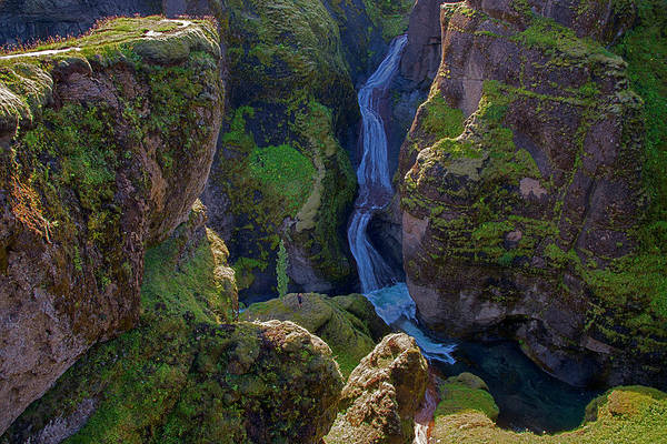 Photograph - River And Green Canyons In Iceland by Dave Dilli