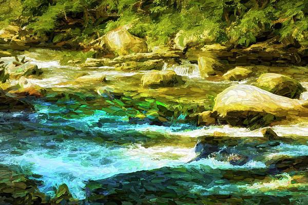 Photograph - River Bank Series Y5990 by Carlos Diaz