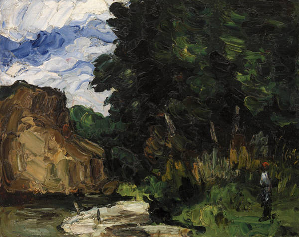 Bend Painting - River Bend by Paul Cezanne