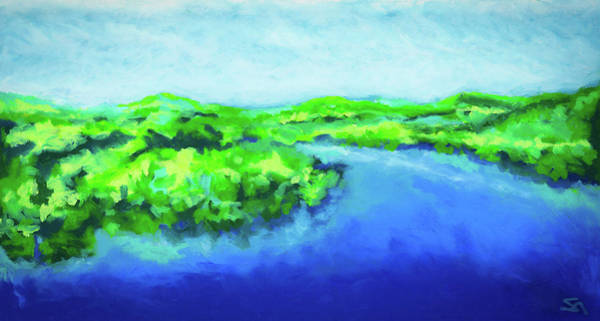 Wall Art - Painting - River Bend by Stephen Anderson