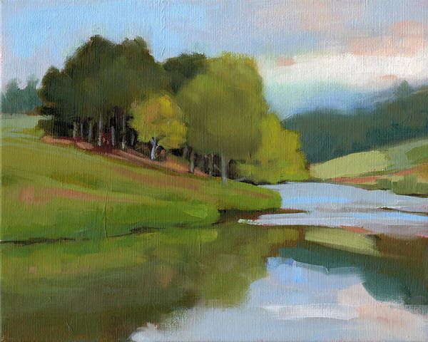 Bend Painting - River Bend Study by Todd Baxter