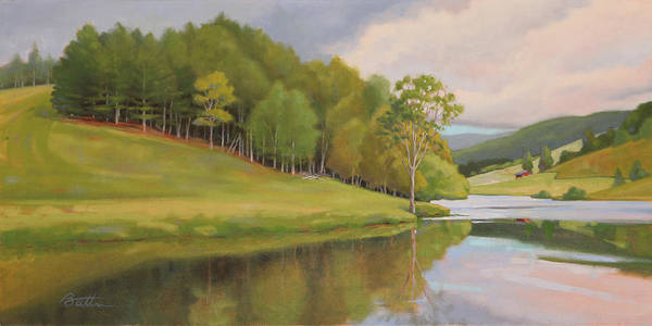 Bend Painting - River Bend by Todd Baxter