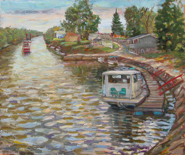Painting - River Boats by Paul Emory