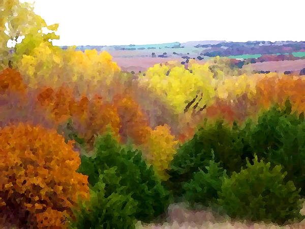 Digital Art - River Bottom In Autumn by Shelli Fitzpatrick