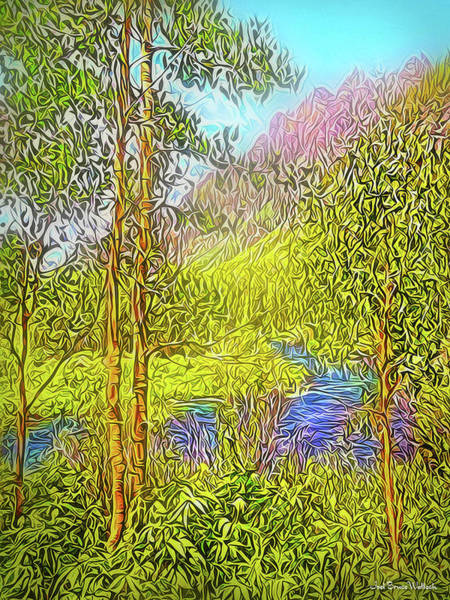 Digital Art - River By The Mountains by Joel Bruce Wallach