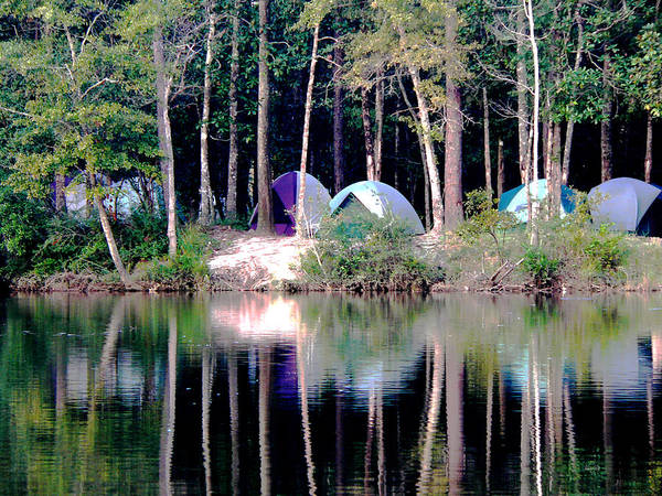 Photograph - River Camp Reflections by Kathy K McClellan