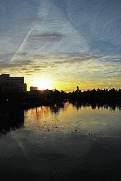 Expo 74 Photograph - River City Sunset 4196 by Donald Sewell