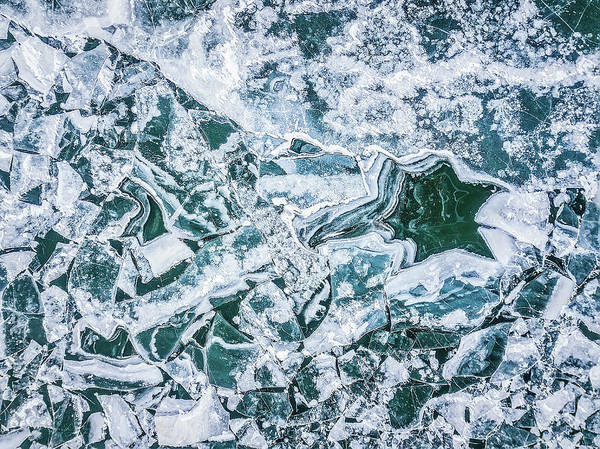Uas Wall Art - Photograph - River Ice by Jennifer Grover
