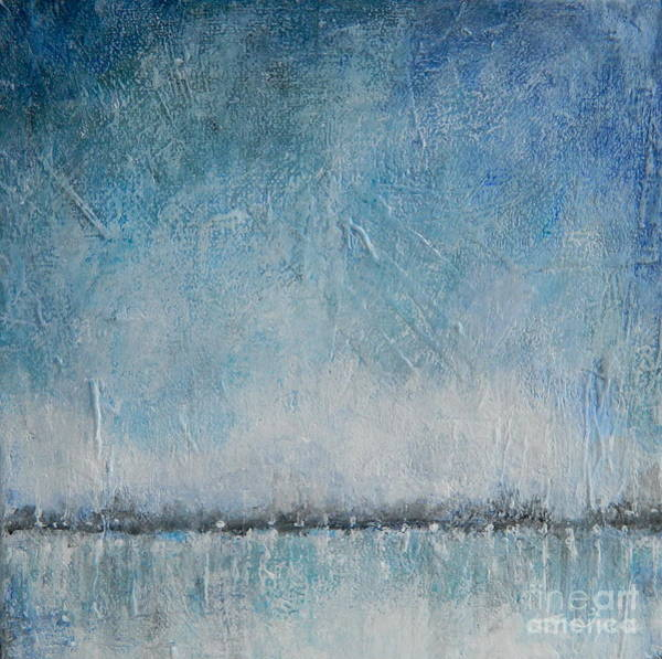 Wall Art - Painting - River Ice by Kate Marion Lapierre