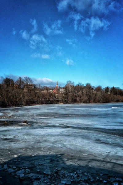 Photograph - River Ice by Tom Singleton