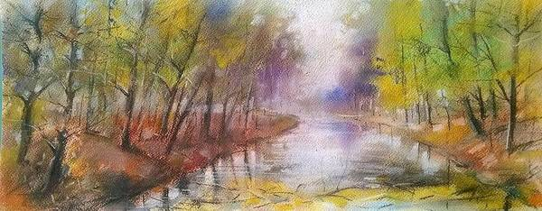 Painting - River Impression by Lorand Sipos