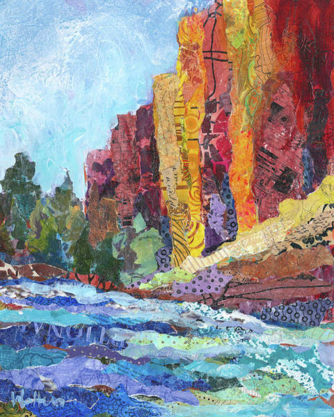 Painting - River In The Canyon by Shelli Walters