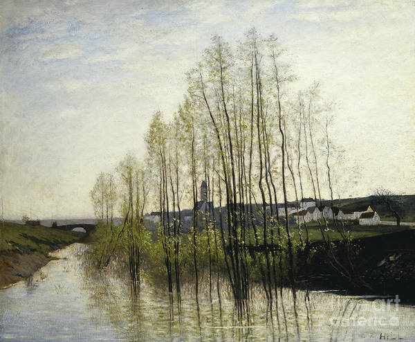 Champagne Painting - River Landscape, Champagne, 1876 by Carl Fredrik Hill