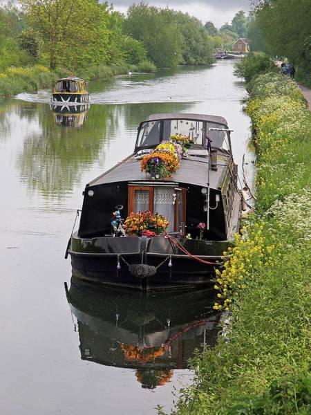Houseboat Photograph - River Life - Narrowboats On British Waterways by Gill Billington