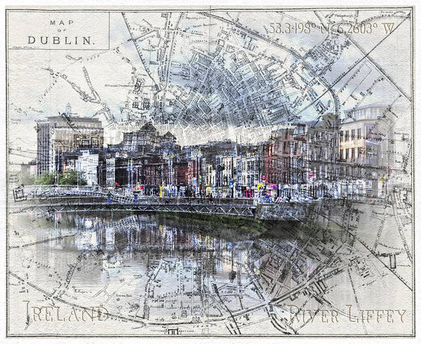 River Liffey Dublin Art Print