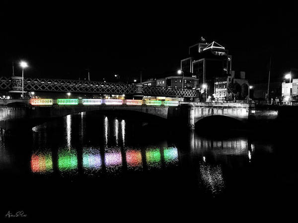 Photograph - River Liffey Reflections by Andrea Platt