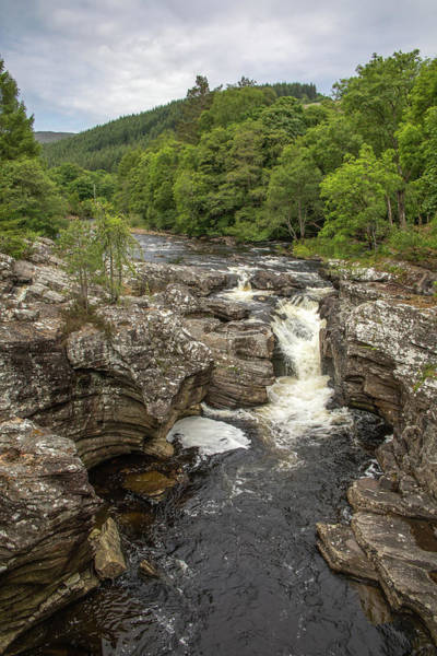Photograph - River Moriston Falls Vertical by Teresa Wilson