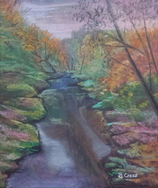 Pastel - River In The Fall by Betsy Carlson Cross