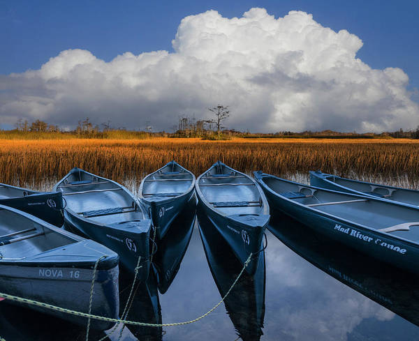 Photograph - River Of Blue by Debra and Dave Vanderlaan