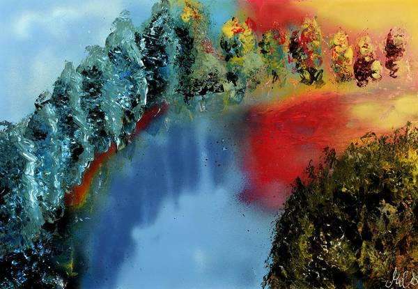 Wall Art - Painting - River Of Colors by Nandor Molnar